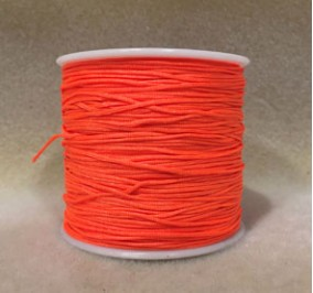 8 mm, cordon nylon, orange vif, par 5 m